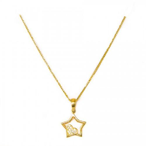 Złota gwiazdka z łańcuszkiem
