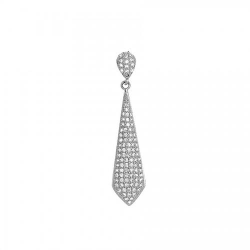 Srebrna przywieszka - krawatka